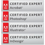 Adobe Certified : Acrobat, Photshop, Illustrator & Indesign