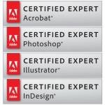 Adobe Certified : Acrobat, Photshop, Illustrator & Indesign
