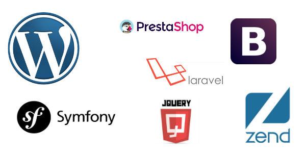 CMS & Framework : WordPress, Prestashop, jQuery, Bootstrap, Zend, Symfony
