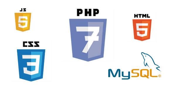 Langages de programmation : PHP7, HTML5, CSS3, JS, MYSQL